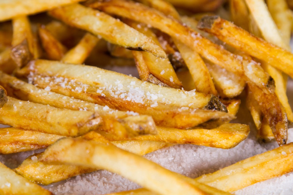 Golden, crispy french fries at home