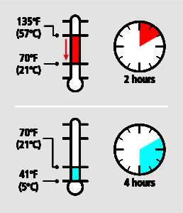 Temperature Danger Zone Graphic