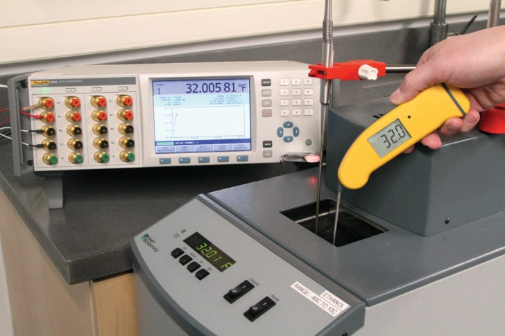 Calibrating a Thermapen in ThermoWorks' Accredited Calibration Laboratory
