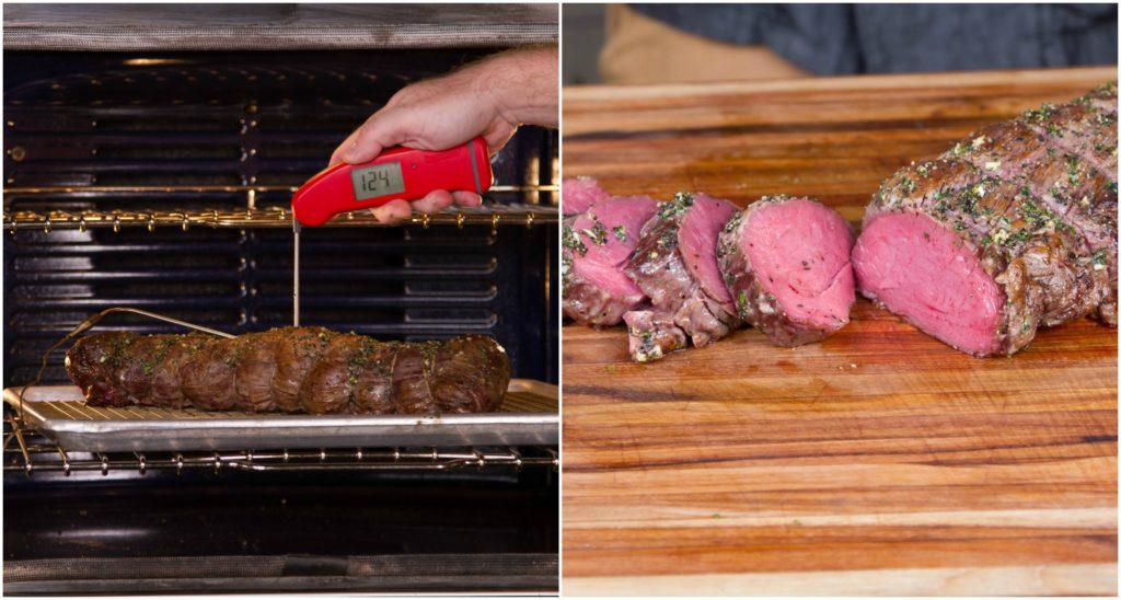 Verify the temp, rest, slice and serve