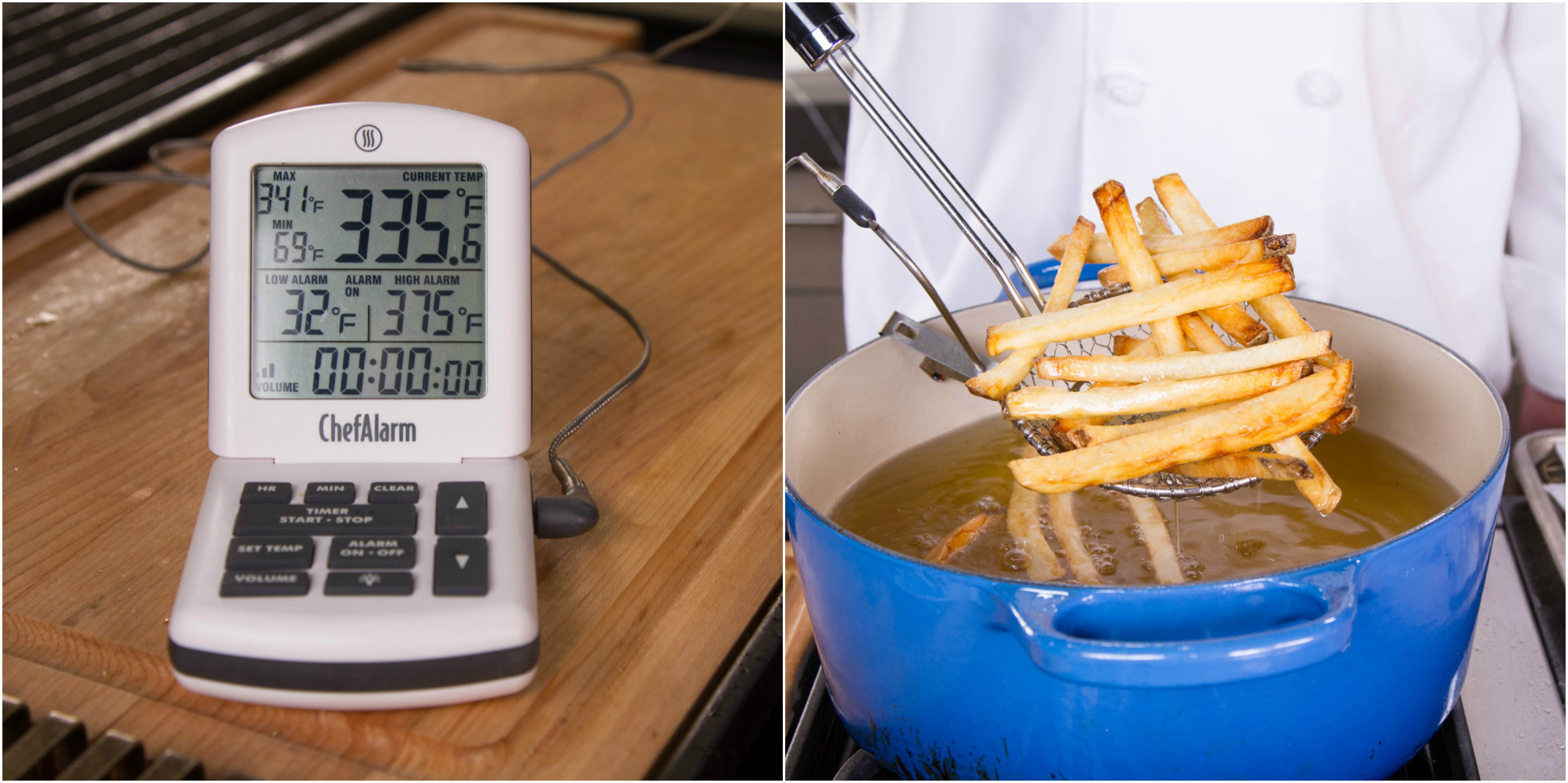 Choosing the best thermometer for deep frying
