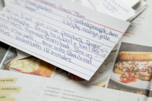 Mkae notes on family recipes for better cooking