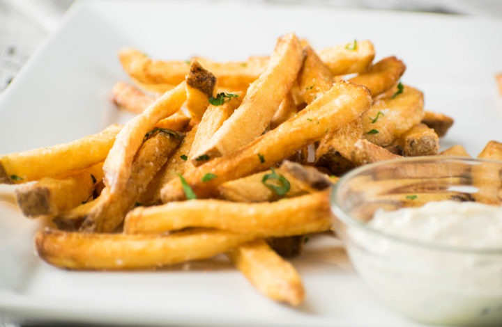 Homemade French Fries, Golden and Crisp