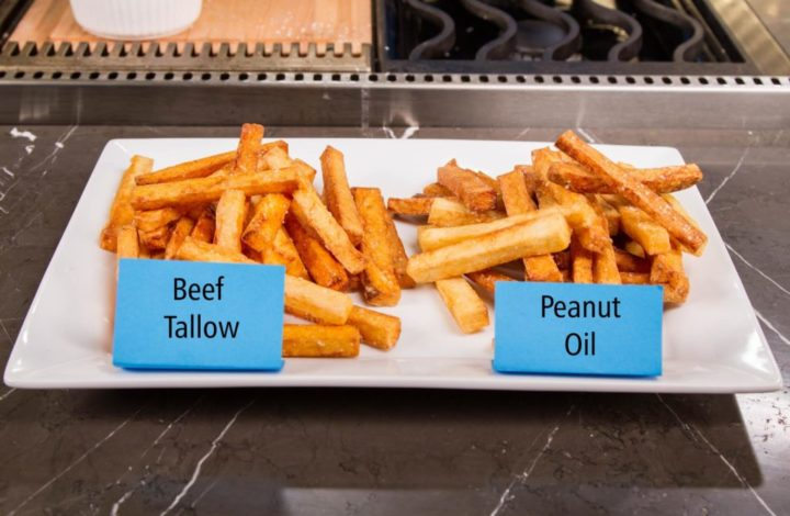 French Fries fried in different oil