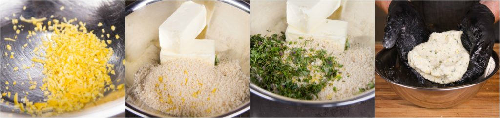 Make a compound butter with the breadcrumbs
