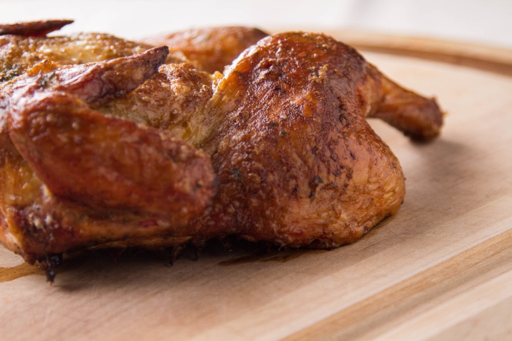 Smoke-roasted chicken