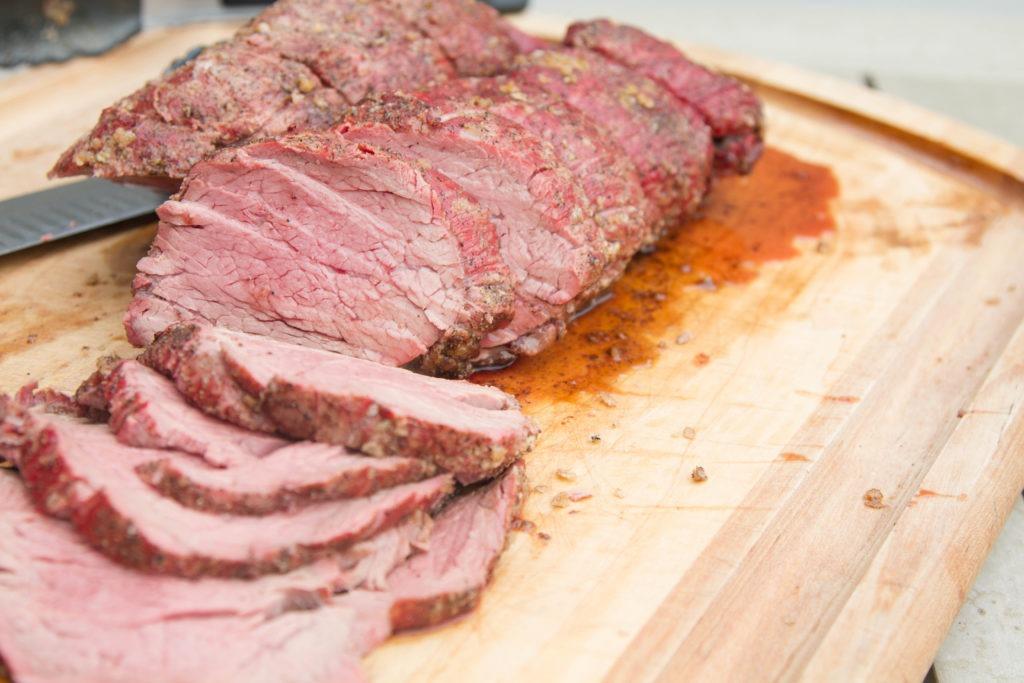 Beef tenderloin on a smoker