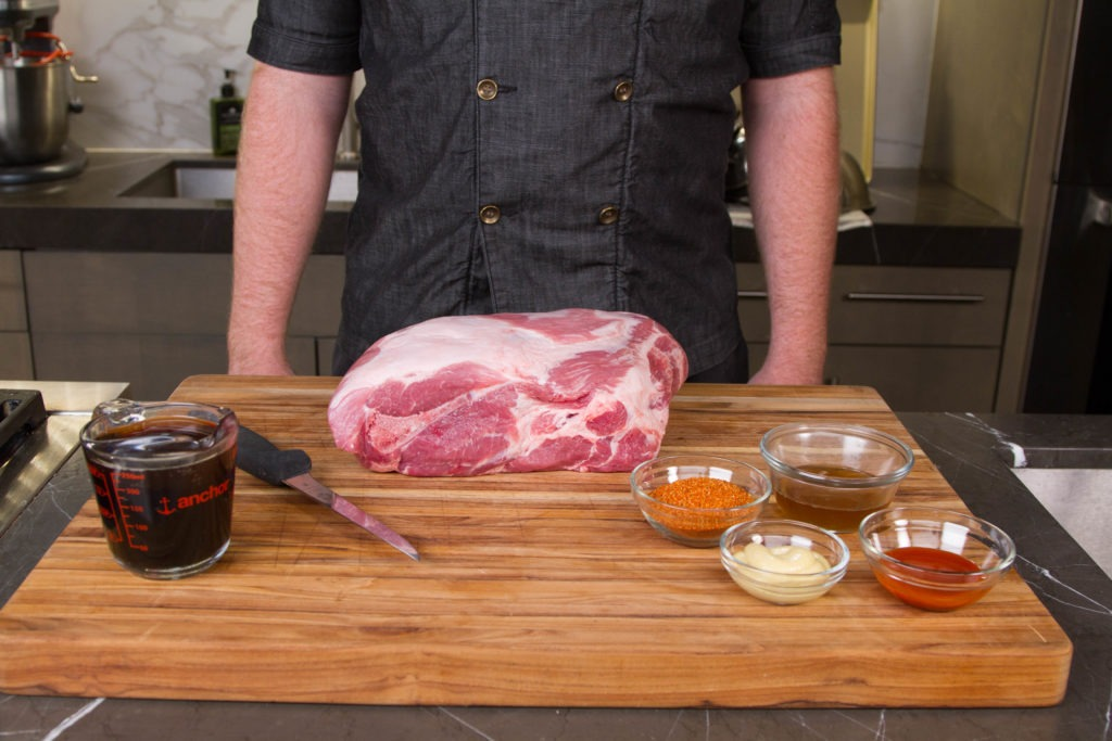 sliced smoked pork shoulder ingredients