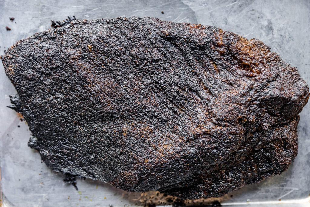 Beautiful brisket with good bark on it