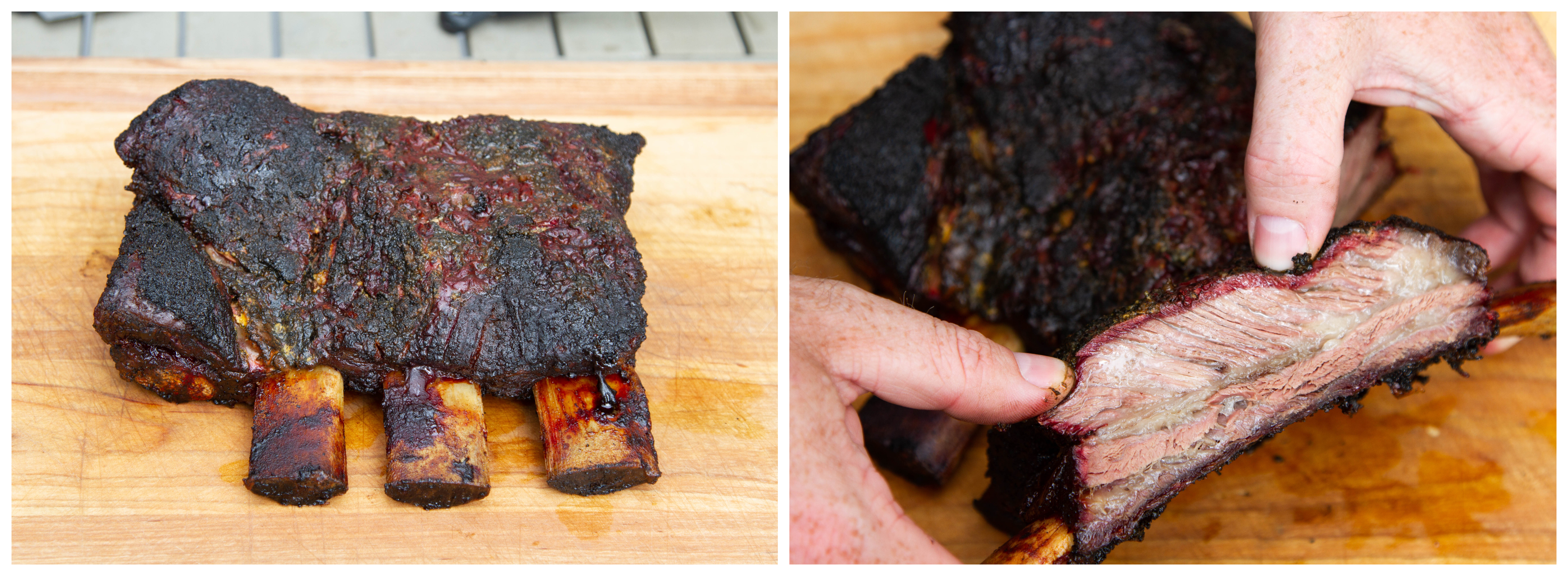 Smoked Beef Short Ribs Dino Sized Bbq Thermoworks