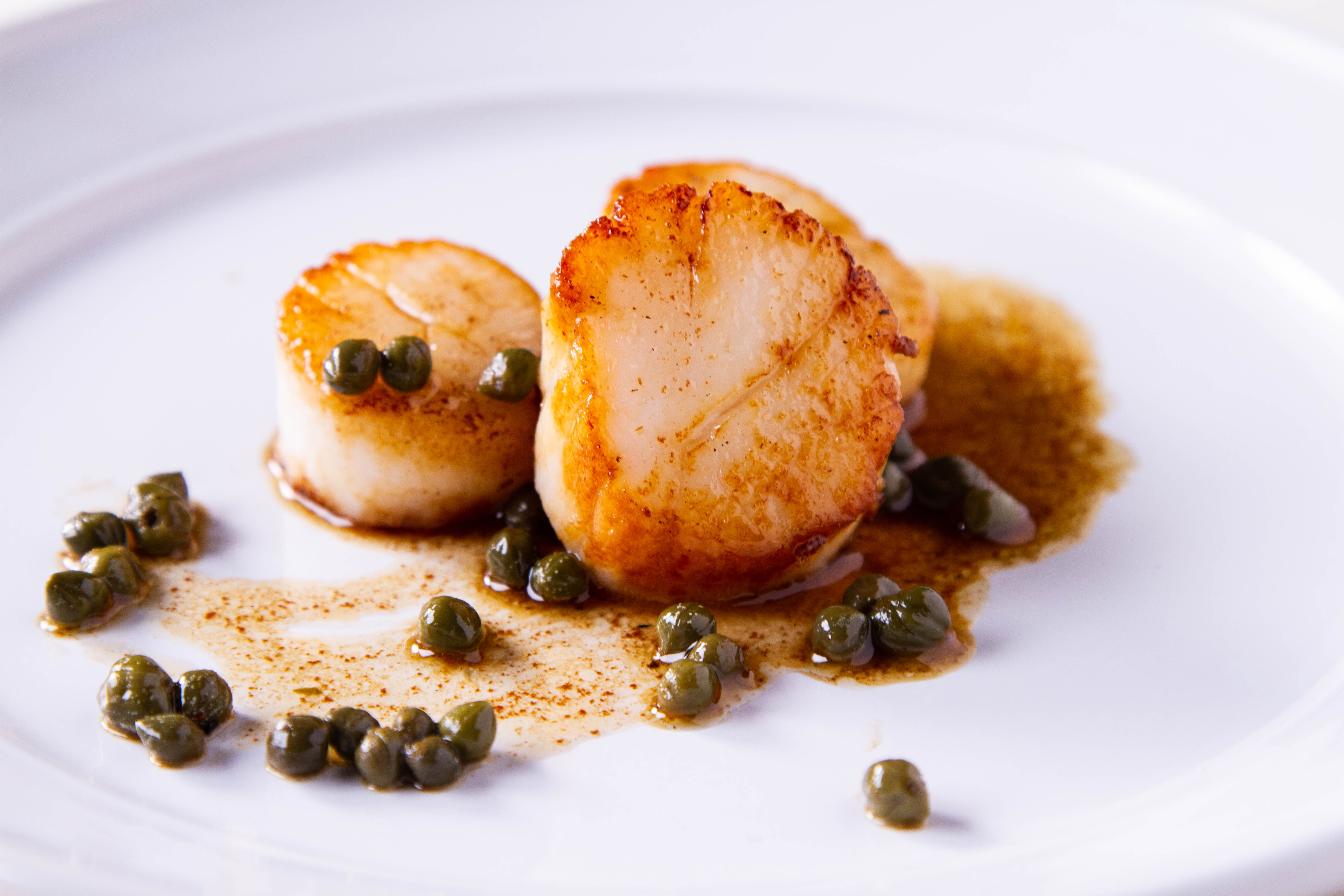 Pan seared scallops recipe below