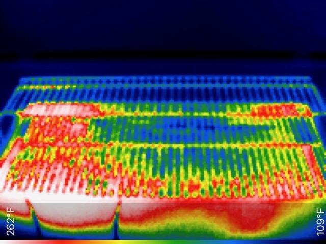 Pellet smoker heat image