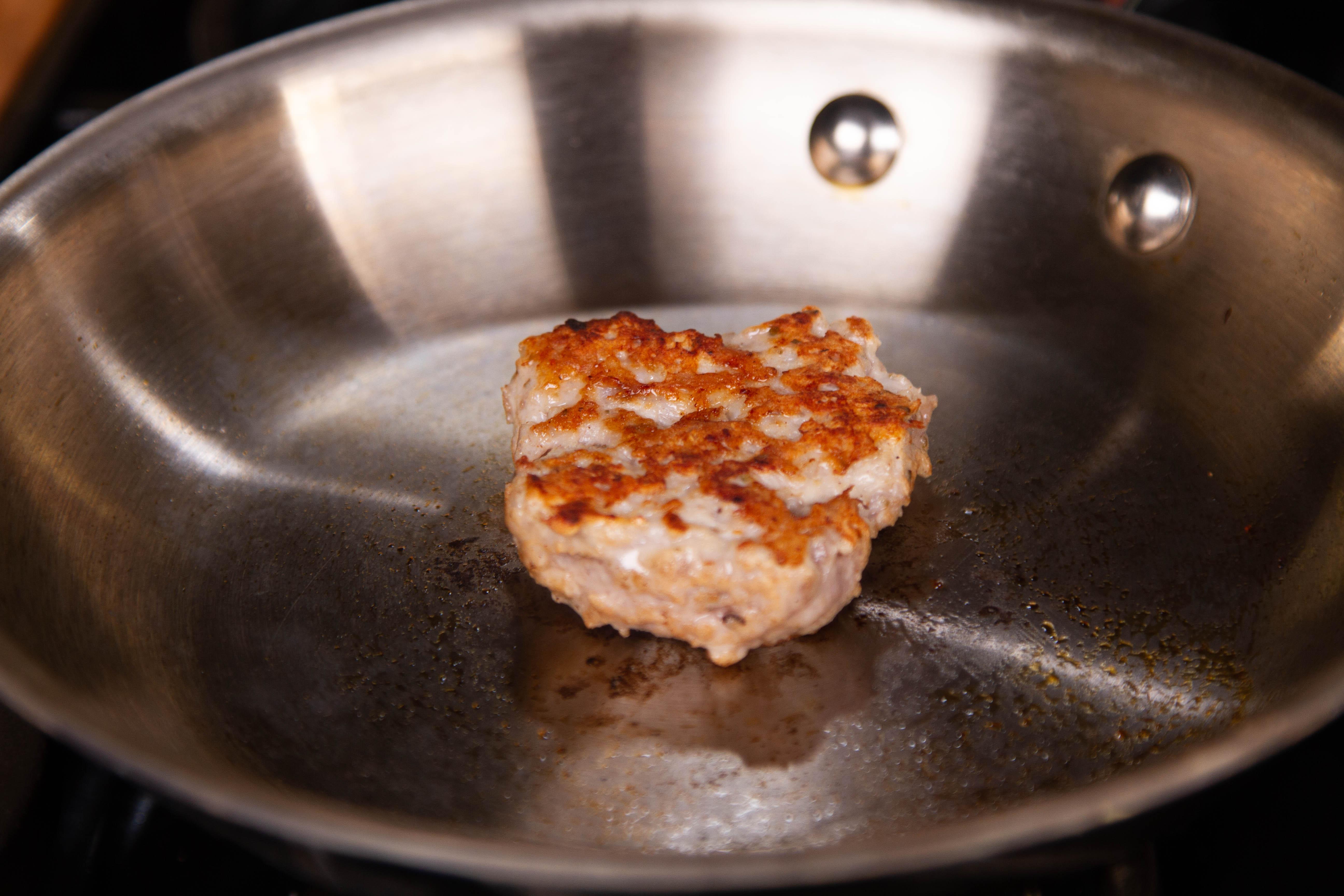 Test your homemade brat filling for seasoning