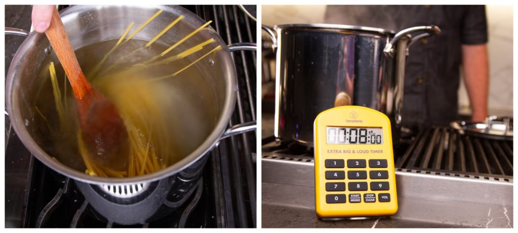 Use a timer for perfect pasta