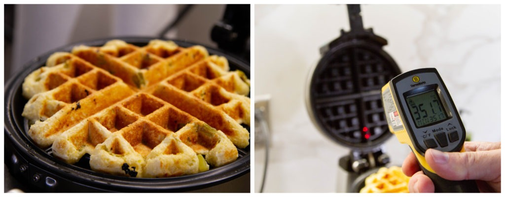 Make sure the waffle iron is hot