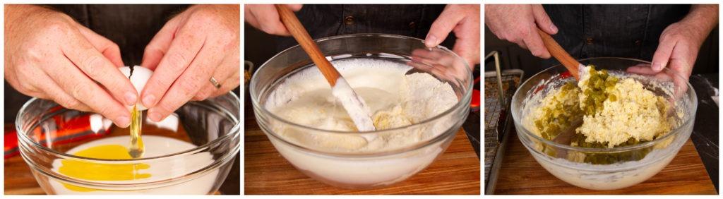 Make a thick, lumpy waffle batter