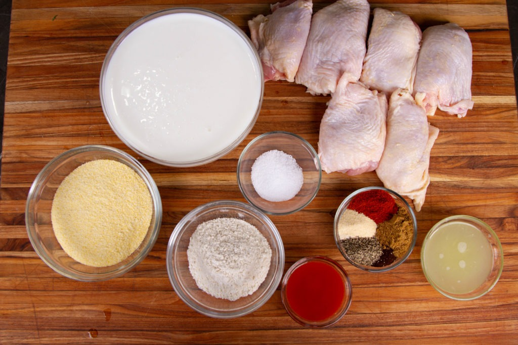 Mexican-flavored fried chicken recipe ingredients