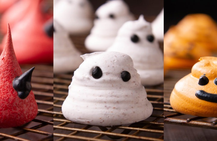 Italian Meringue cookie recipe for Halloween