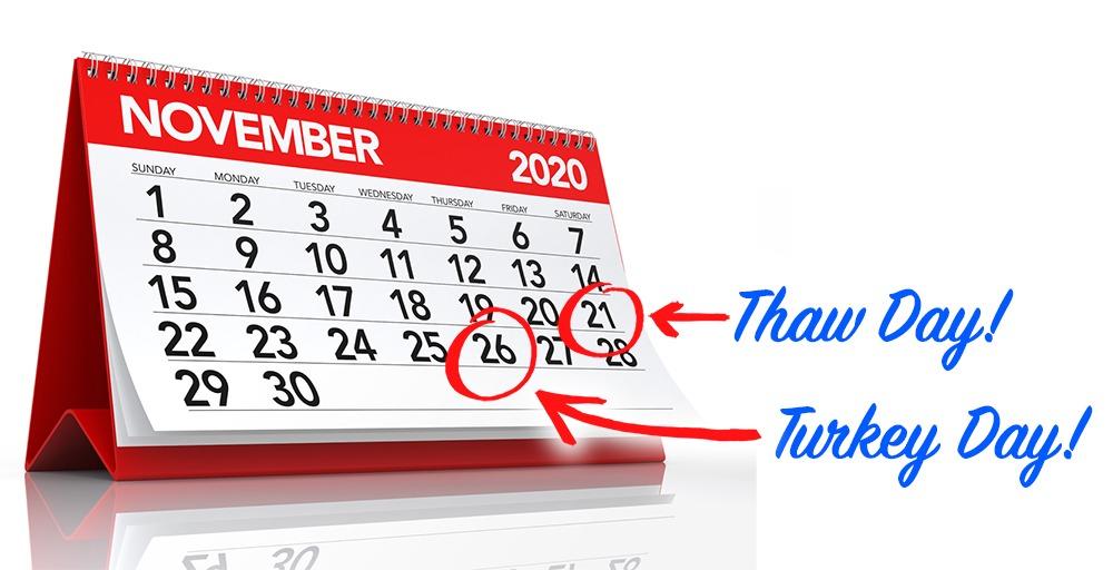 Turkey thaw day 2020 is Sat. Nov. 21