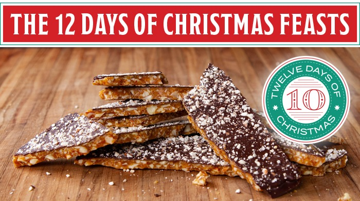 English toffee for your twelve days of Christmas