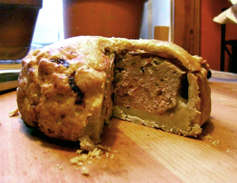 An example of an English pork pie