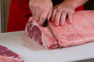 Cut a few steaks from the loin-end of the rib loin