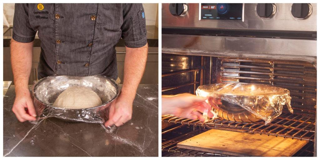Let the dough rise until larger by 30%