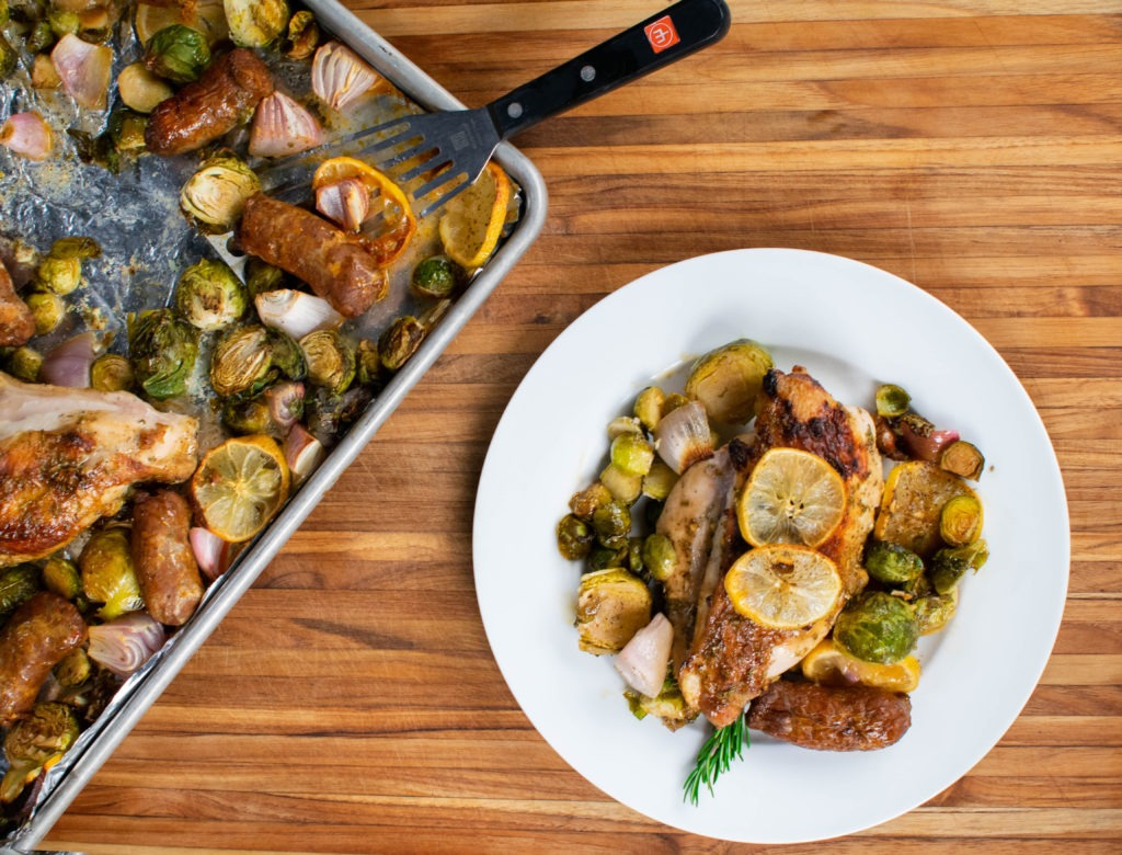 Sheet-pan baked chicken breast recipe