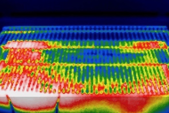 Grates carry the heat from the hot zone into the cooler areas, a danger for probes.
