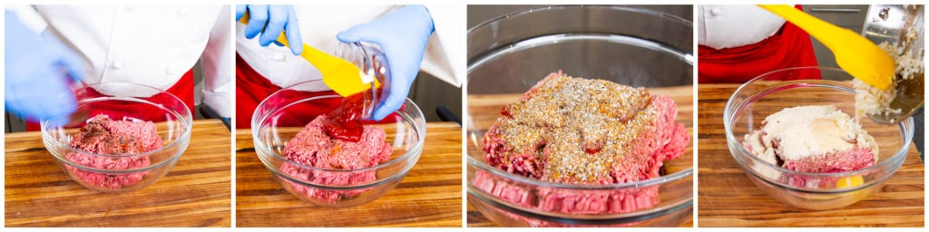 Mix the ingredients for the patties to make a firm, homogenous mass