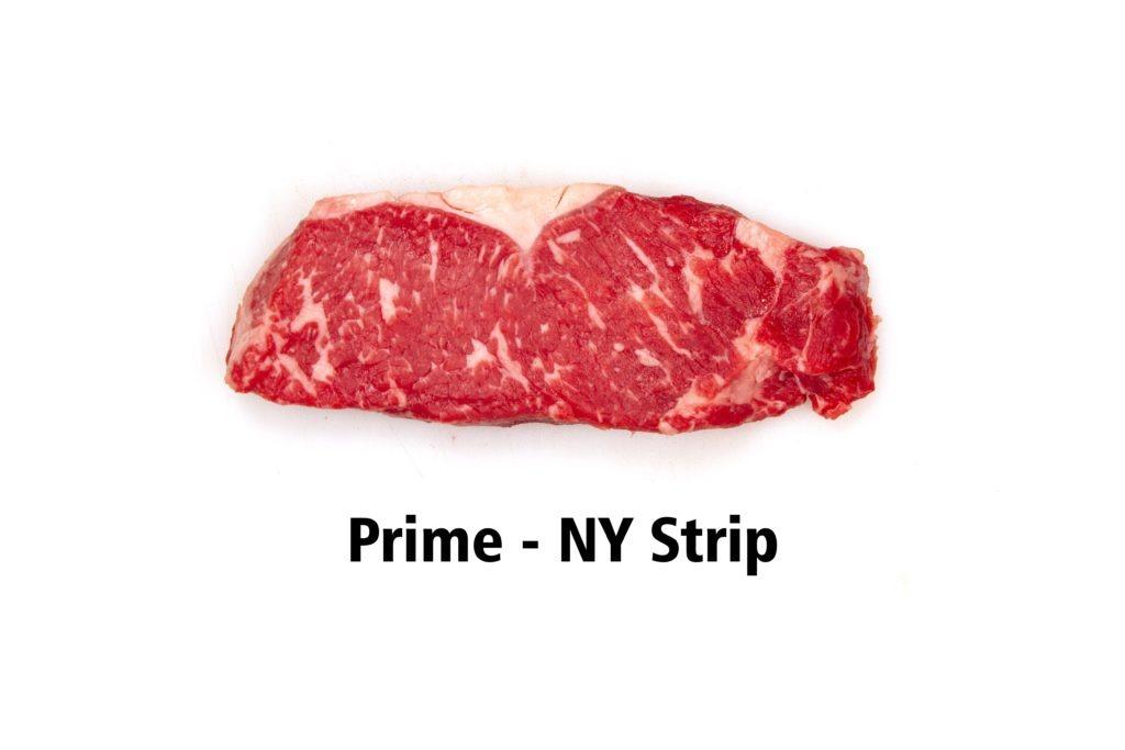 A prime grade NY strip