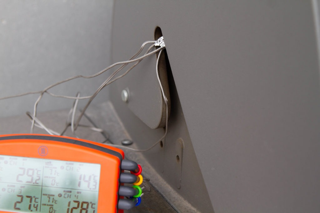 use the probe-cable port, grommet, or cut-out on your smoker.