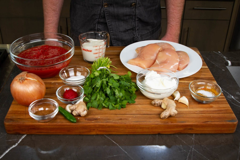 Ingredients for chicken tikka masala