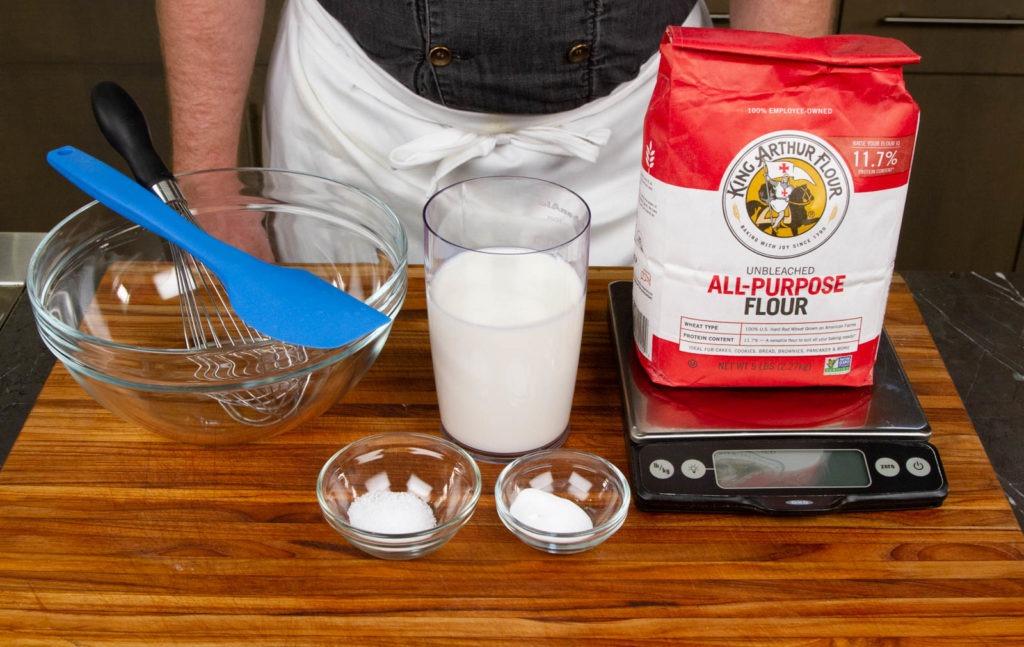 True soda bread has only 4 ingredients: flour, salt, soda, and buttermilk.