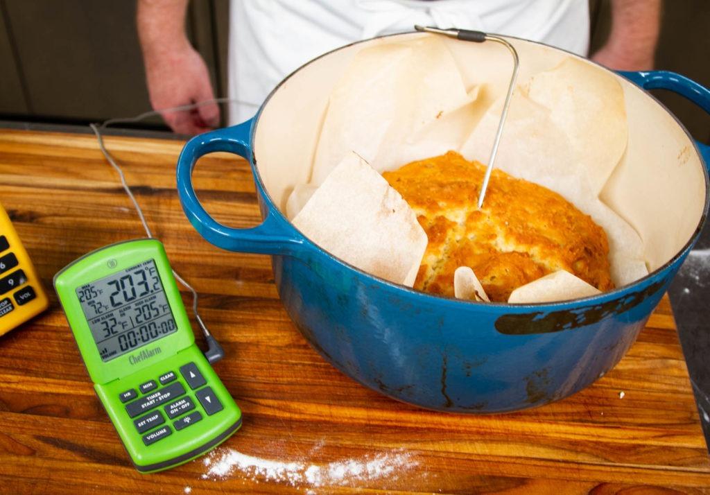 Bake to 205°F