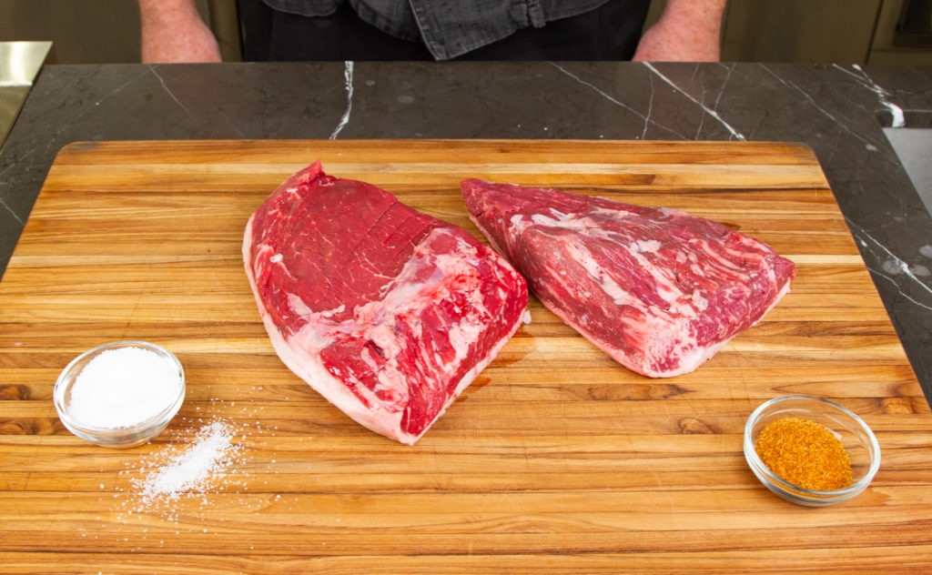 Simple ingredients for beef picanha steak