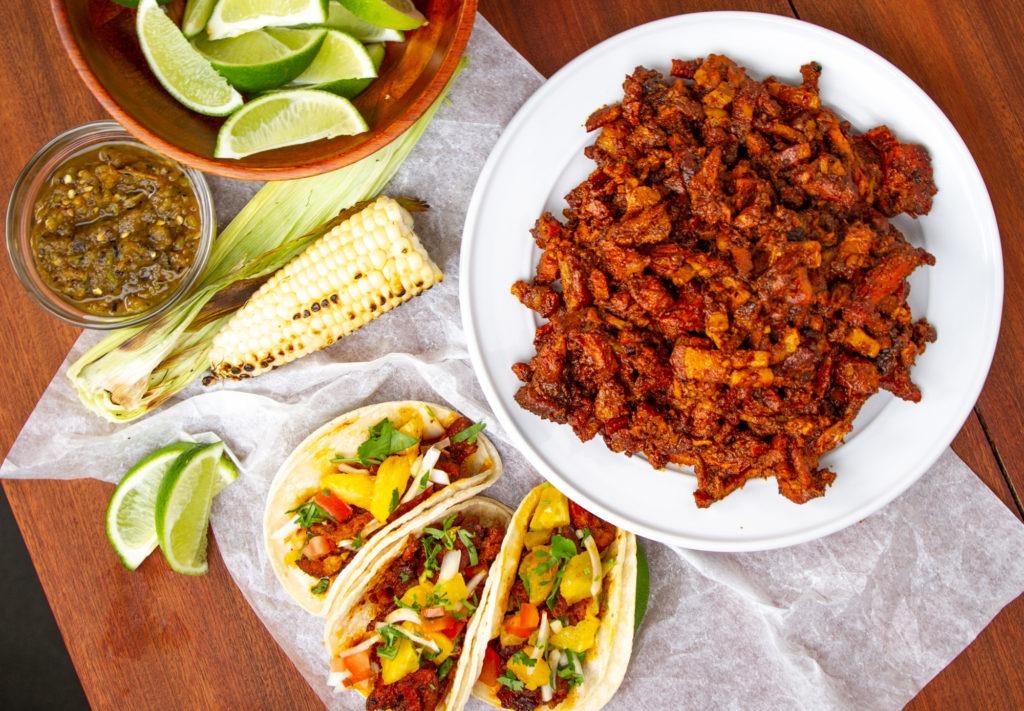 Delicious al pastor tacos