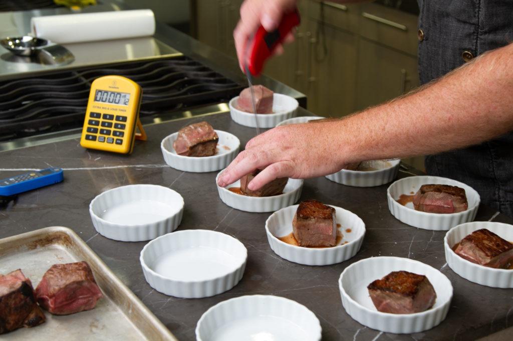 Testing steaks for moisture loss