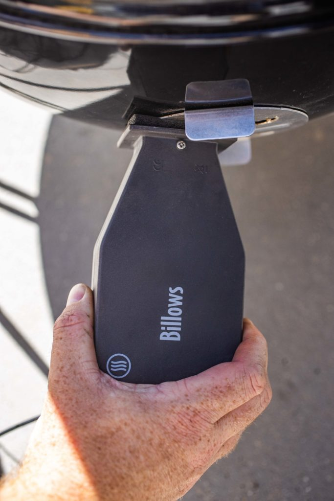 set up the Billows fan on your smoker.