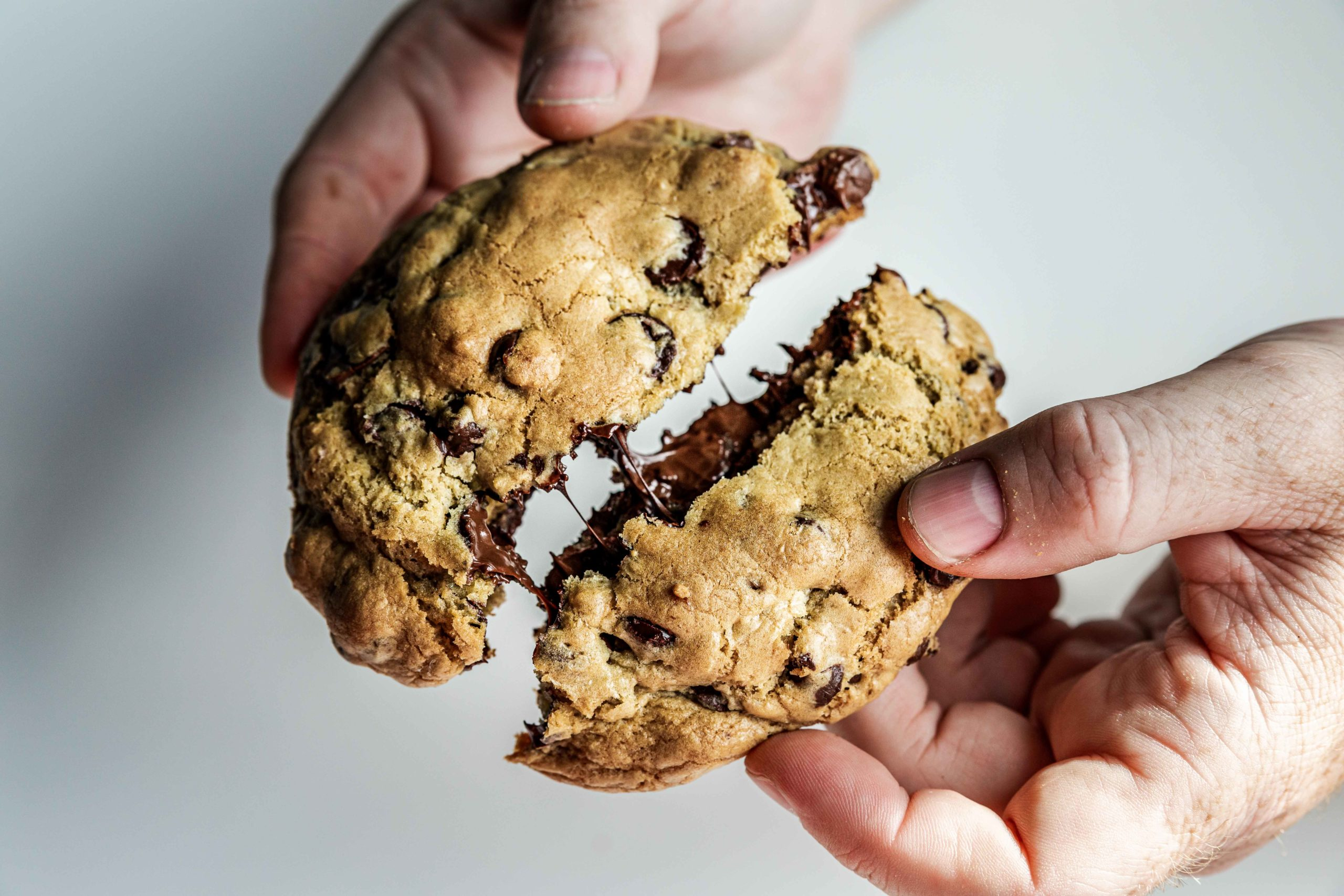 gooey, chocolately chocolate chip cookies