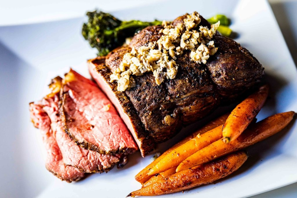 Two Holiday Dinners Rib Roast For Them Ribeye Cap For