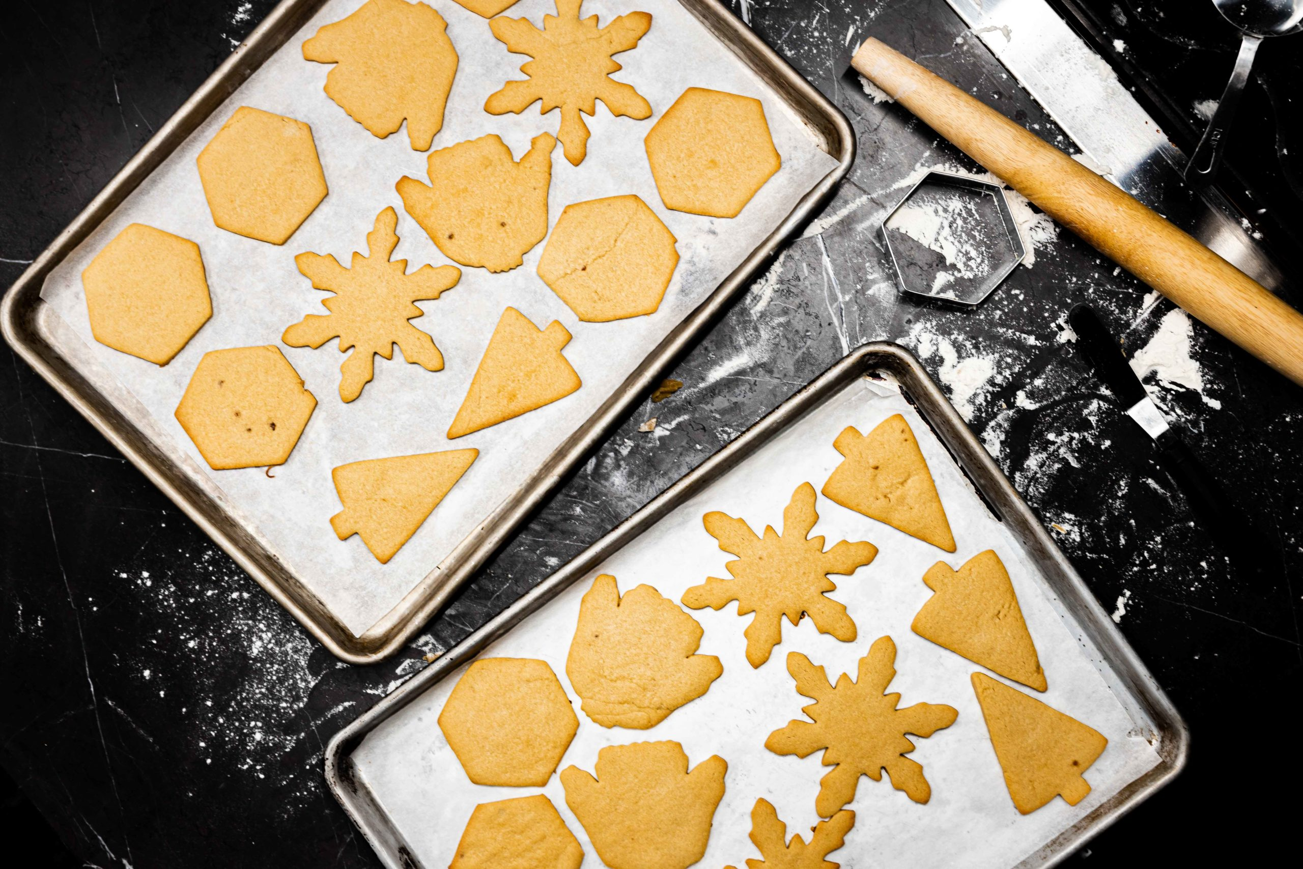 Beautiful, golden-brown cookies ready for decorating