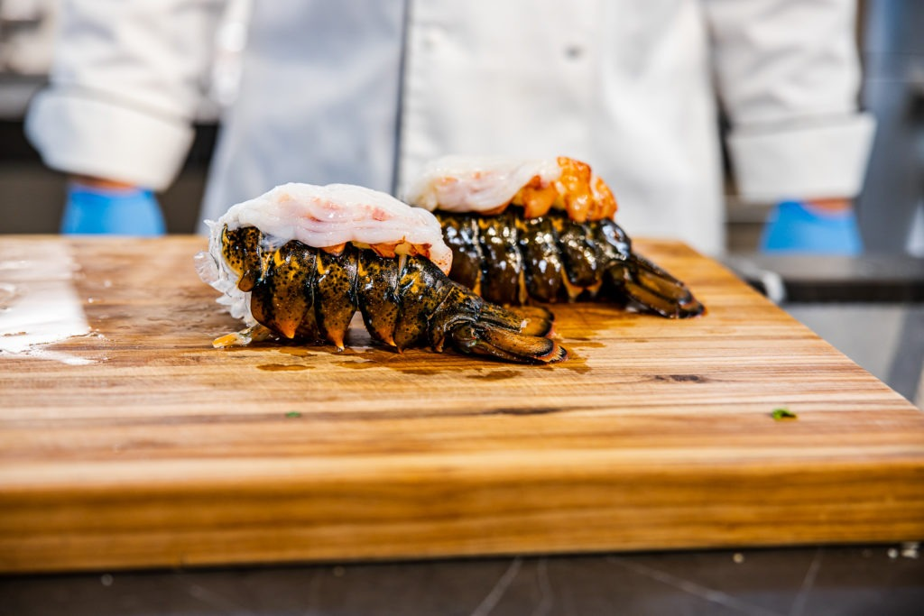 piggy-backed lobster tails