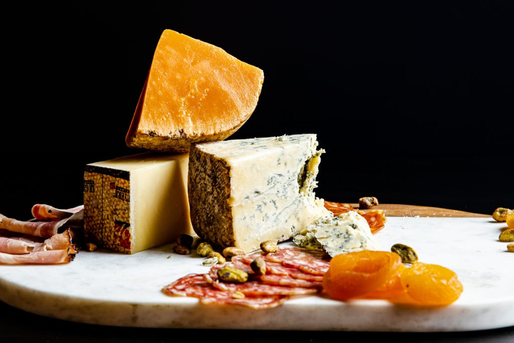 Cheeses, all of which should be served at room temperature