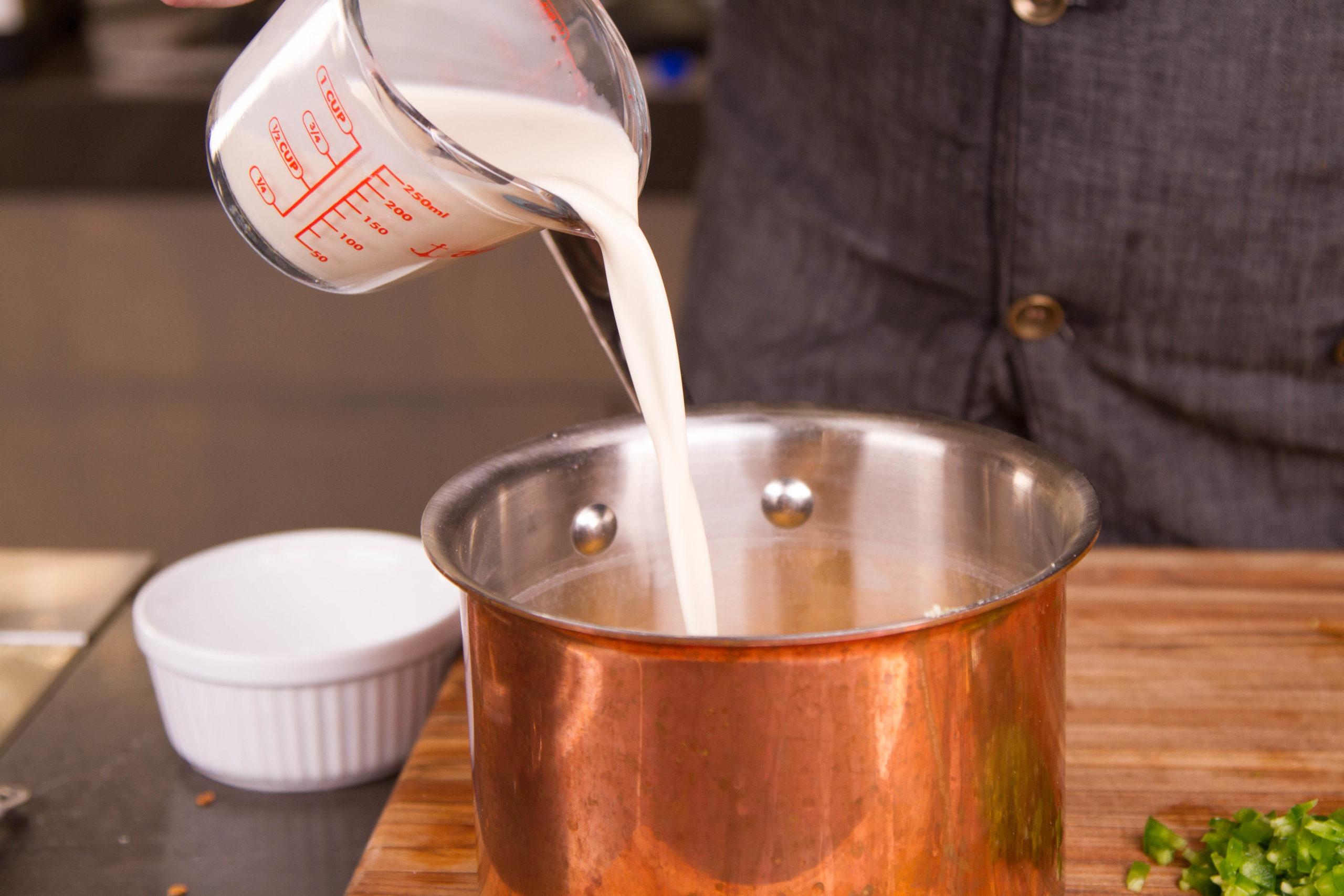 add the milk