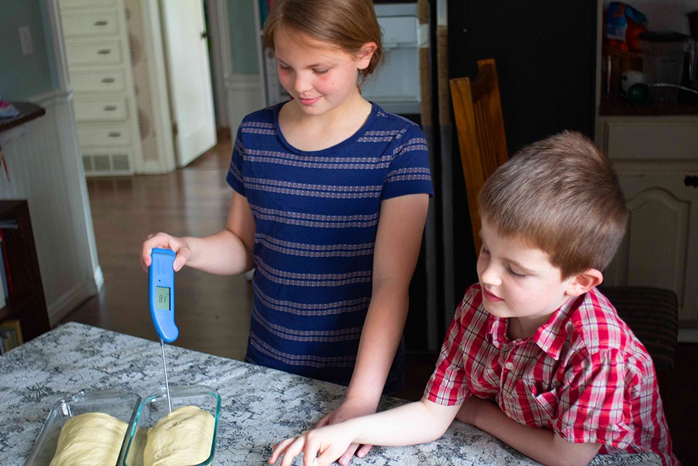 Kids using the Thermapen