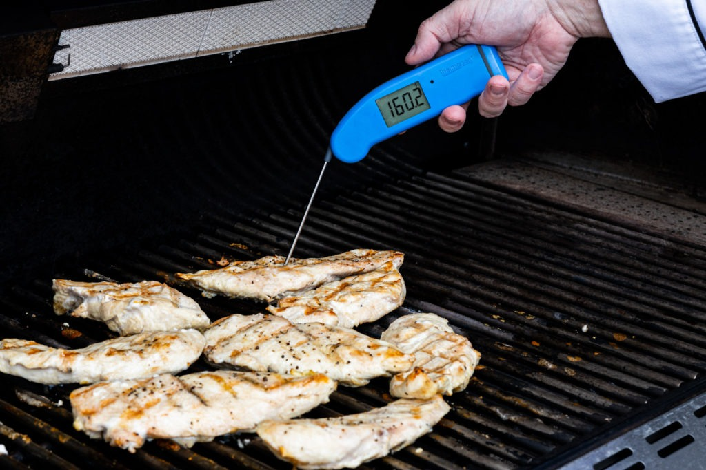 Temping chicken breasts