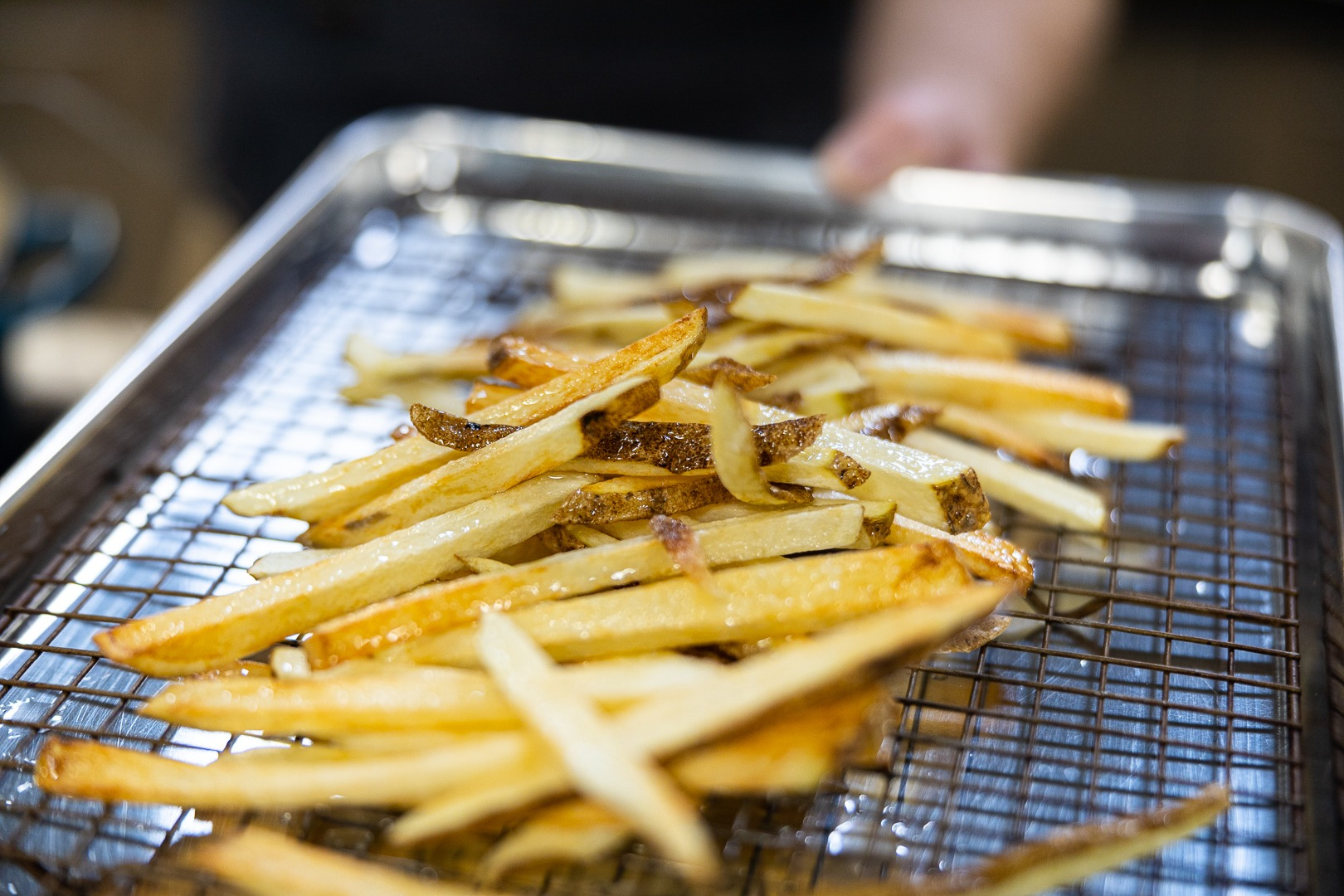 Fries after the first frying