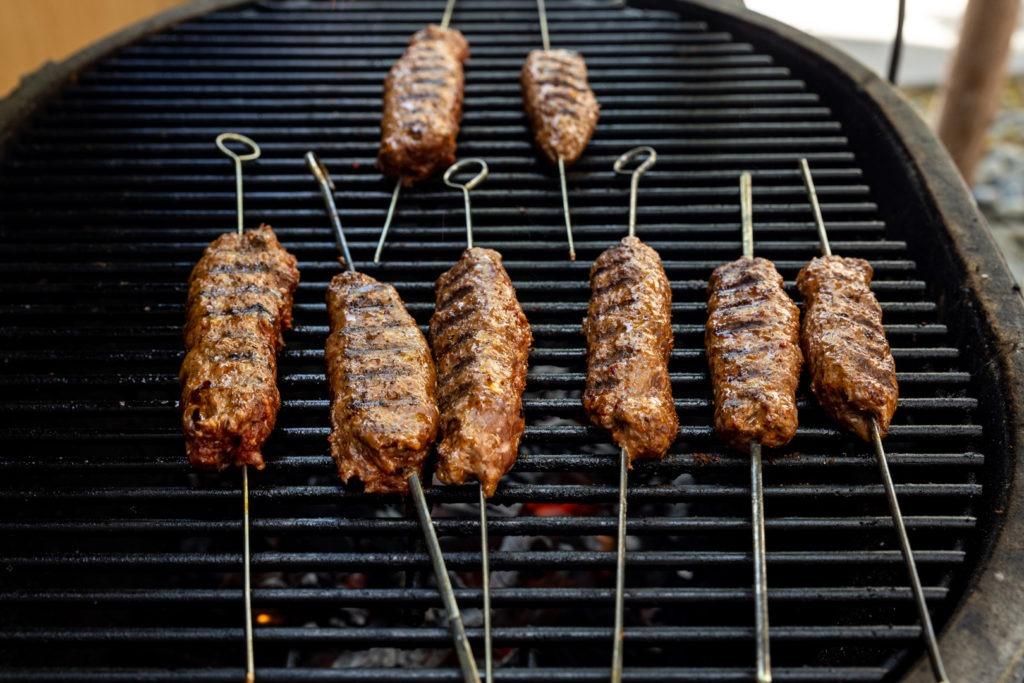 Kebabs grilling