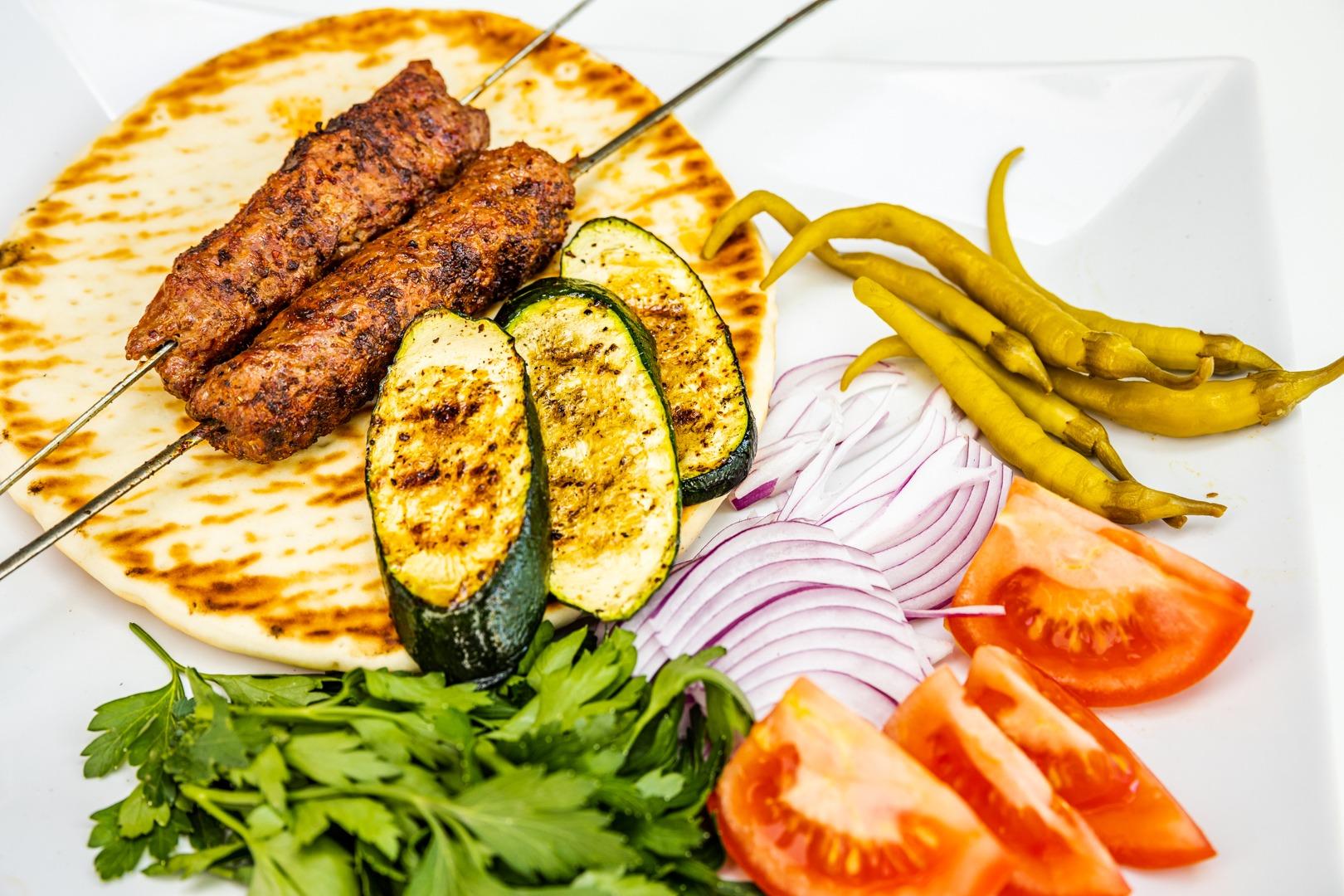 Grilled Turkish Lamb Kebabs